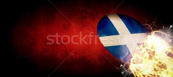 összetett kép Skócia rögbilabda sötét sport Stock fotó © wavebreak_media
