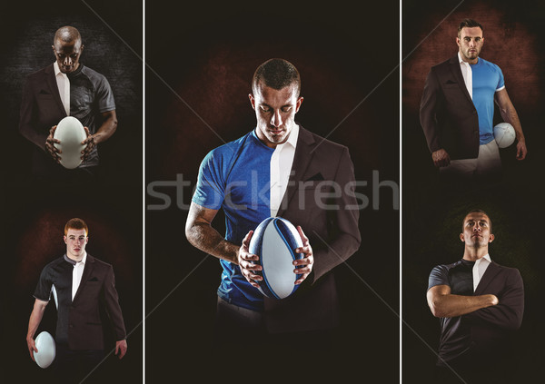 Composite image of rugby player looking at camera Stock photo © wavebreak_media