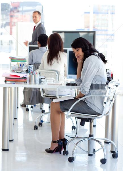 Işkadını sıkılmış tanıtım ofis iş kadın Stok fotoğraf © wavebreak_media