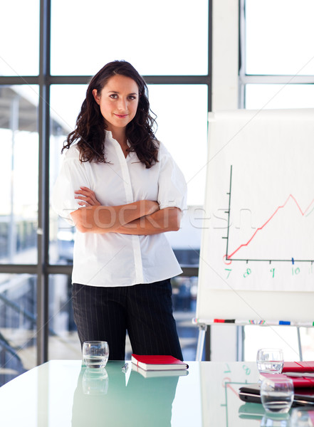 Confident businesswoman with folded arms Stock photo © wavebreak_media