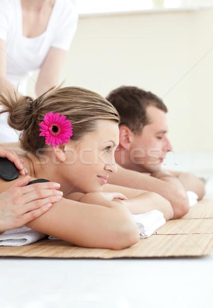 Smiling young couple enjoying a Spa treatment Stock photo © wavebreak_media