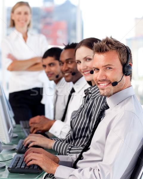Menedzser vezető képviselő csapat iroda számítógép Stock fotó © wavebreak_media