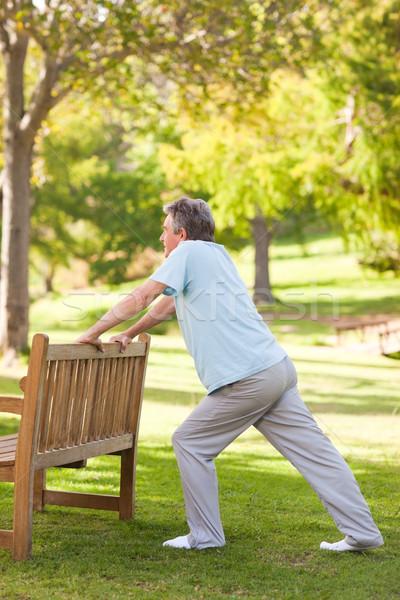 Pensione uomo parco salute anziani persona Foto d'archivio © wavebreak_media