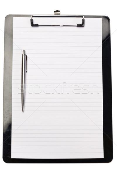 Pluma nota blanco libro diseno fondo Foto stock © wavebreak_media