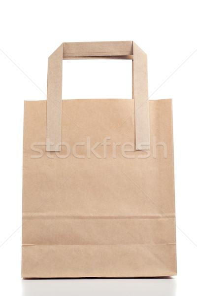 Brązowy papier worek biały tle rynku pakiet Zdjęcia stock © wavebreak_media