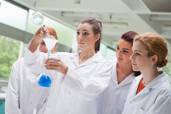 Sevimli bilim Öğrenciler sıvı Stok fotoğraf © wavebreak_media