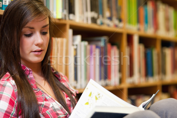 Female student reading in a library Stock photo © wavebreak_media