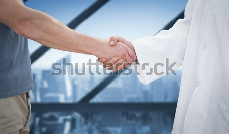 Olgun satıcı megafon beyaz Stok fotoğraf © wavebreak_media