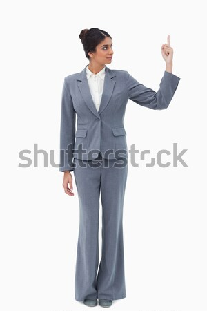 Woman yelling at business people through a megaphone Stock photo © wavebreak_media