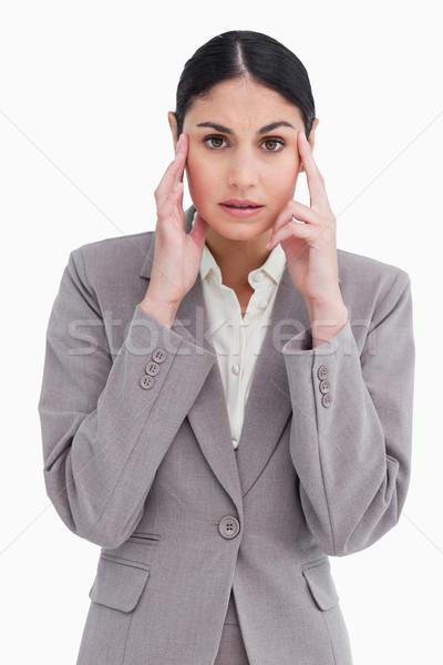 молодые головная боль белый стороны работу Сток-фото © wavebreak_media