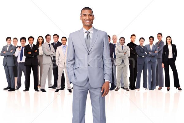 Foto stock: Empresario · mano · bolsillo · blanco · gente · de · negocios · equipo