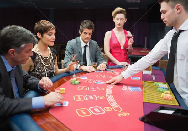 4人 演奏 ポーカー カジノ 手 表 ストックフォト © wavebreak_media