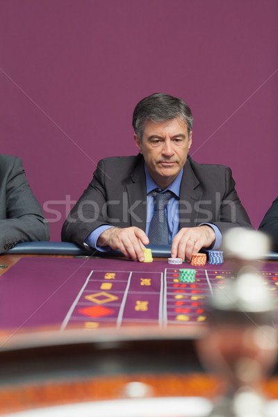 Man roulette casino geld spelen wiel Stockfoto © wavebreak_media