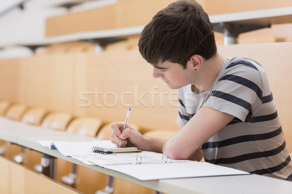 öğrenci oturma ders salon yazı notepad Stok fotoğraf © wavebreak_media