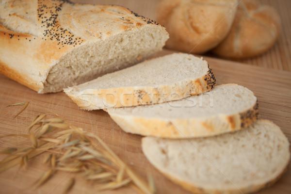 Pavot semences baguette bord alimentaire Photo stock © wavebreak_media