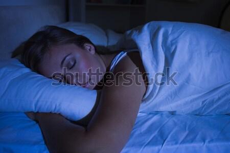Woman trying to sleep at night Stock photo © wavebreak_media