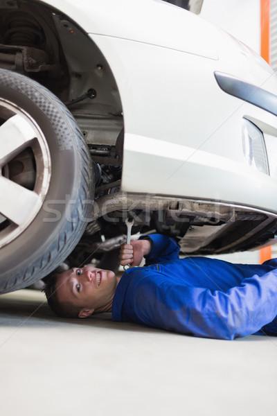 Mecánico de automóviles de trabajo coche retrato masculina industria Foto stock © wavebreak_media
