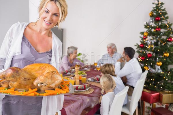Orgulloso madre Turquía Navidad casa Foto stock © wavebreak_media