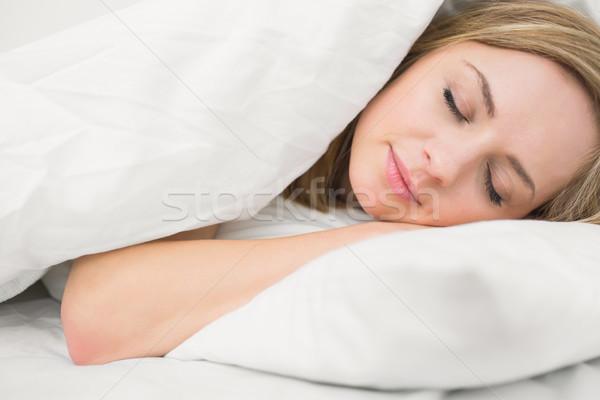 красивая женщина спальный кровать красивой Сток-фото © wavebreak_media