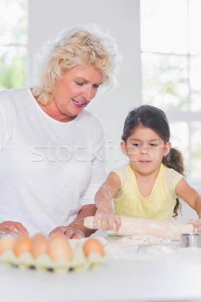 Nieta abuela junto cocina nina Foto stock © wavebreak_media