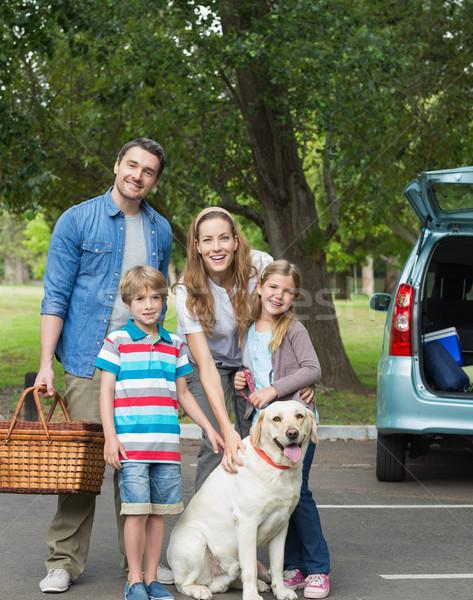 семьи два дети пикника портрет счастливая семья Сток-фото © wavebreak_media