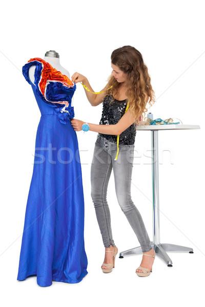 Feminino moda estilista manequim isolado Foto stock © wavebreak_media