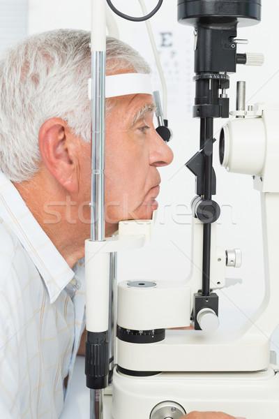 Kıdemli adam kornea yandan görünüş yaşlı Stok fotoğraf © wavebreak_media
