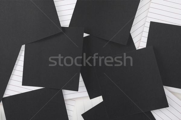Nero carta notepad Foto d'archivio © wavebreak_media