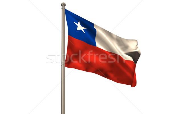 Dijital oluşturulan Şili bayrak beyaz Stok fotoğraf © wavebreak_media