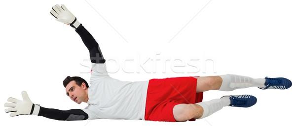 Kapus fehér készít mentés futball futball Stock fotó © wavebreak_media