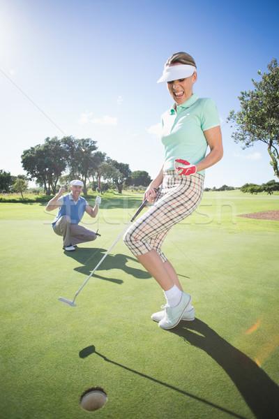 Golfe casal verde campo de golfe Foto stock © wavebreak_media
