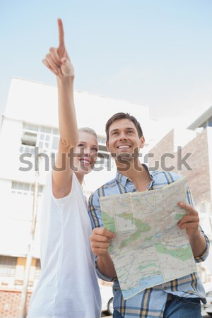çekici gülen beyaz adam Stok fotoğraf © wavebreak_media