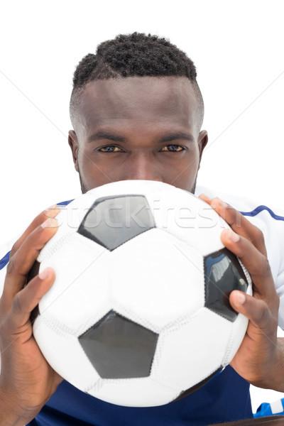 Retrato grave futbolista blanco fútbol Foto stock © wavebreak_media