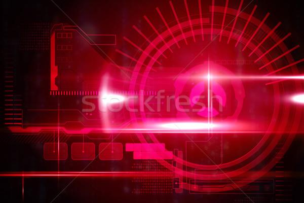 Rojo tecnología interfaz luz negro Foto stock © wavebreak_media
