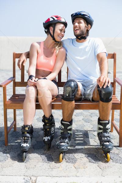 Caber casal pronto lâmina saúde Foto stock © wavebreak_media