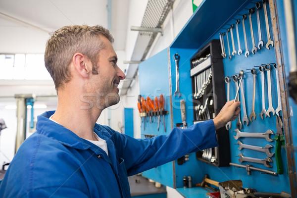 Mecânico ferramenta parede reparar garagem Foto stock © wavebreak_media