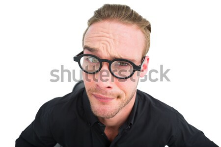 Doubtful businessman with glasses posing Stock photo © wavebreak_media
