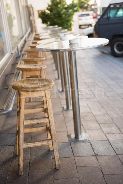 Bár zsámoly terasz pékség üzlet étterem Stock fotó © wavebreak_media