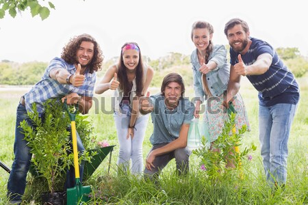 Happy friends gardening for the community Stock photo © wavebreak_media