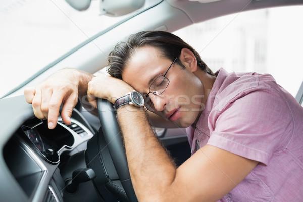 Bêbado homem volante carro estilo de vida adormecido Foto stock © wavebreak_media