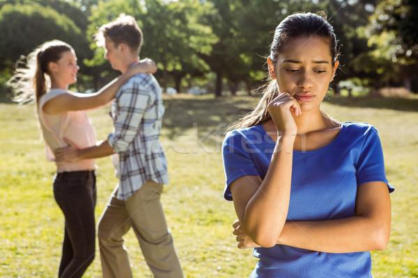 Man being unfaithful in the park Stock photo © wavebreak_media