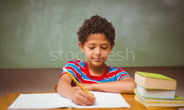 少年 書く 図書 教室 肖像 ストックフォト © wavebreak_media