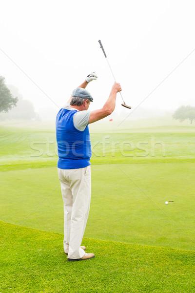 Mutlu golfçü yeşil gün Stok fotoğraf © wavebreak_media