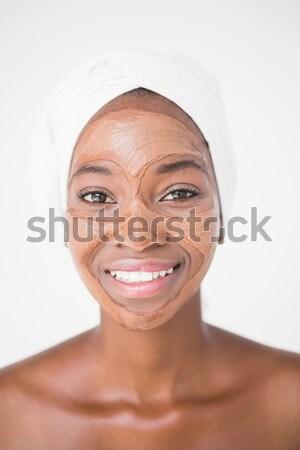 Bunalımlı sarışın kadın bakıyor kamera beyaz kadın Stok fotoğraf © wavebreak_media