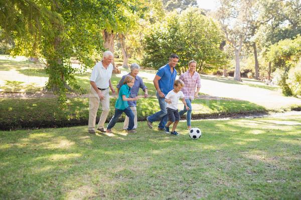 Happy family playing at the ball Stock photo © wavebreak_media