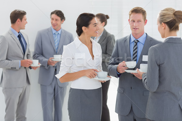 Business people drinking cup of coffee Stock photo © wavebreak_media