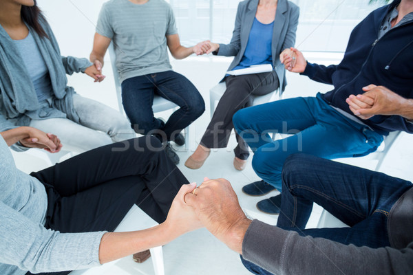 Gruppo terapia seduta cerchio luminoso stanza Foto d'archivio © wavebreak_media