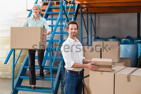 Manager Paket Halle Porträt Mann Feld Stock foto © wavebreak_media