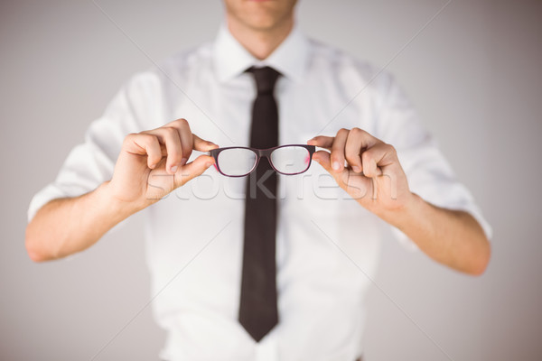 Biznesmen okulary do czytania szary działalności człowiek Zdjęcia stock © wavebreak_media