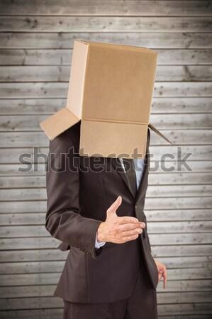 Anônimo empresário cinza caixa terno Foto stock © wavebreak_media